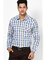 Checked Blue Casual Shirt I Know