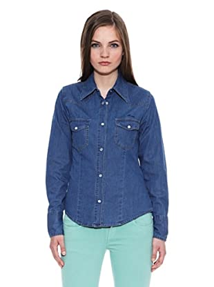 Carrera Jeans Camisa Estampada Jeans Basic West (Azul)