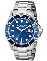 Stuhrling Original Aquadiver Analog Blue Dial Men's Watch - 417.03