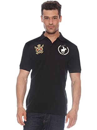 Polo Club Polo manga corta Escudo & Logo (Negro)