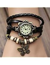 Women Genuine Leather Vintage Bracelet Watch