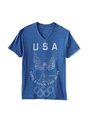 Kinetix Men's USA V-Neck Tee Shirt (Royal Blue)