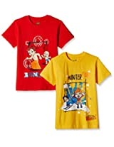 Chhota Bheem Boys' T-Shirt (Pack of 2)