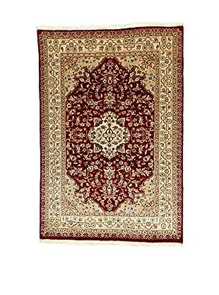 L'Eden del Tappeto Teppich Kashmirian F/Seta braun/beige 177t x t121 cm