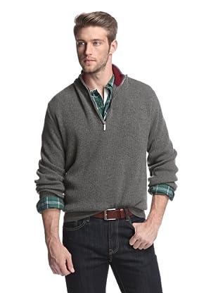 Oxxford Men's Half-Zip Sweater (Grey)