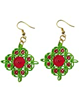 Designer's Collection Paper Quilling Ear Rings for Women-DSERA018