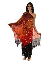 Fashiana Women Art Silk Awesome Four Shaded Multi Colored Dupatta (110cm x 240cm) ...