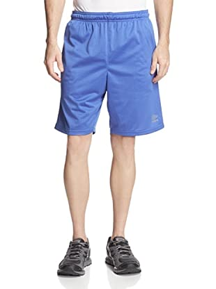 Umbro Men's High/Low Mesh Shorts (Dazzling Blue)