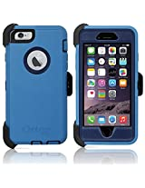 "Otterbox Defender Series Case and Holster for Apple iPhone 6 / 6S 4.7"" - Ink Blue (Admiral Blue / Deep Water) (Certified Refurbished) ***NOT for iPhone 6 PLUS***"