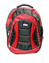American Kingston Laptop Backpack - AKNANORED (BLACK AND RED)