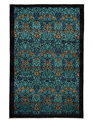 Darya Rugs Arts and Crafts Rug, Turquoise/Aqua, 6' x 9' 1