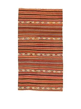 Design Community By Loomier Teppich Kilim Caucasico koralle/mehrfarbig 146 x 266 cm
