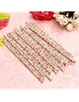 25Pcs Biodegradable Paper Flower Floral Drinking Straws Birthday Party Wedding (#2)