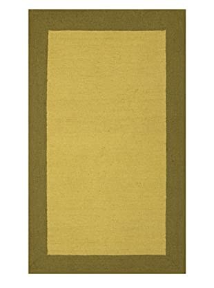 Trina Turk Rugs Bright Solid Hook Rug (Citron/Olive)
