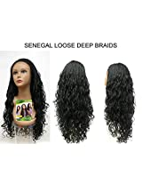Sensationnel Empress Senegal Collection Braided Lace Wig Senegal Loose Deep (F1 B/30 Off Black/Med Auburn)
