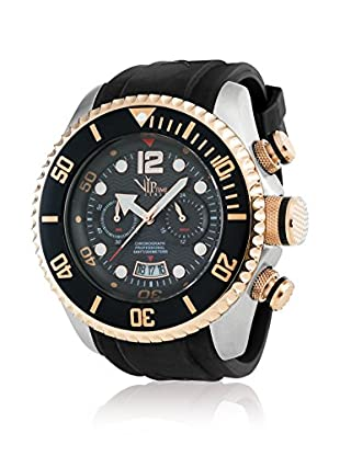 Vip Time Italy Uhr mit Japanischem Quarzuhrwerk VP5025BK_BK schwarz 50.00  mm