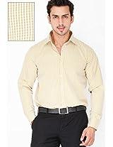 Checks Yellow Formal Shirt