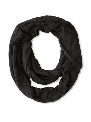 Sarajane Women's Lace Loop Scarf, Black