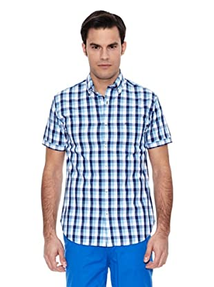Pedro del Hierro Camisa M.Corta Mid Check Popelin (Azul)