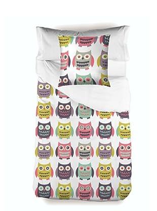 Little W Juego de Funda Nórdica 3 piezas Owls (Multicolor)