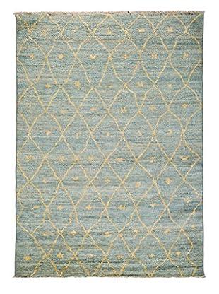 Darya Rugs Moroccan Oriental Rug, Light Blue, 5' 4