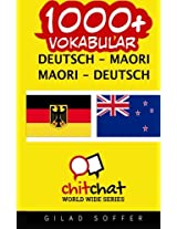 1000+ Deutsch - Maori Maori - Deutsch Vokabular