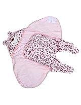 Baby Bucket A foot Sleeping Bags Velvet Cotton Sleep Sack- Leapard (Red)