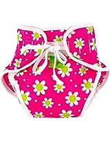 Reusable Swim Diaper | Pink Daisies Size , Medium