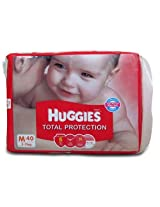Huggies total protection medium(5-11kg) 40 nos