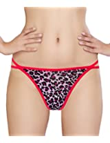 Glus Women Animal Print Love G- String , Size - Medium (Pink)