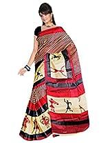 Surat Tex Art Silk Without Blouse Piece Saree (D113Se1005Asu _Maroon)