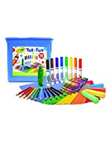 Crayola Tub of Fun, Over 75 Art Tools, Crayons, Markers, Colored Pencils, Construction Paper, Makes a Great Gift