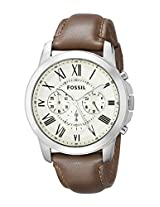 Fossil Grant Brown Leather Men's Watch - FS4735