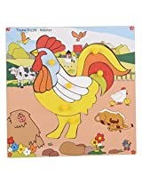 Skillofun Wooden Theme Puzzle Standard Rooster Knobs, Multi Color