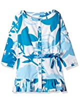 Unamia Girls Cotton Printed Blue Fullsleeve Top - Fba_301621