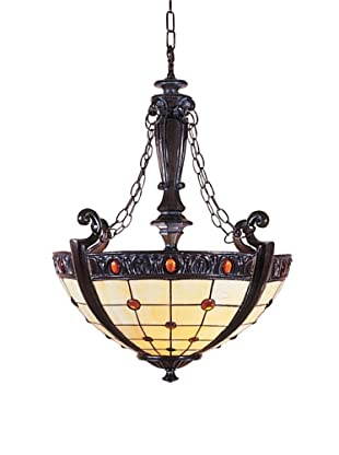 Dale Tiffany Peacock Semi-Flush Fixture