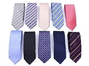【10本セット】ビジネスマン御用達ネクタイ上質織MODE系スーツ用