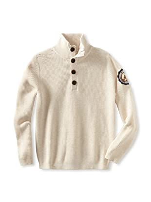 Rose Pistol Boy's Tipton Ribbed Mock Neck (Buff)