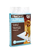 ClearQuest Puppy Pads, 7, 30, 50, 100-Count Bags, Hold 2.5 Cups, Scented to Attract Puppies