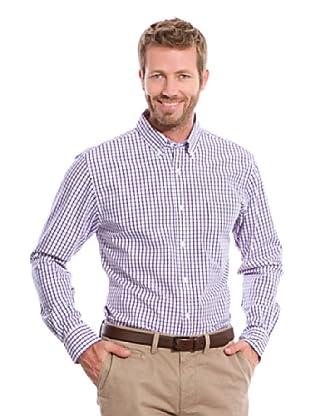 Cortefiel Camisa Cuadro (Morado)