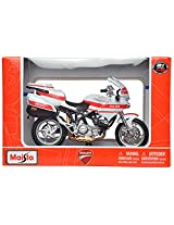 Maisto Ducati Police 1000DS Scale-1:18 Die Cast Toy Motorcycle (White & Red)