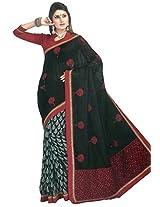 Bhagalpuri Silk Saree in Black Colour for Festive Wear