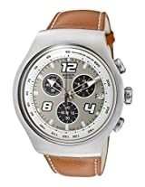 Swatch Unknown Destination YOS403 White Chronograph Watch - For Men