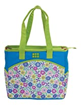 Mee Mee Multiple Pocket Diaper Bag with Changing Mat (Green)