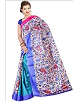 Parchayee Synthetic Saree (94018A _Multi-Coloured)