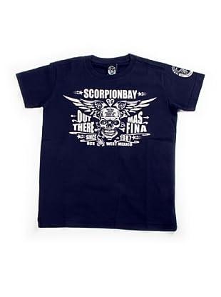 Scorpion Bay Camiseta Contraste (Azul Marino)
