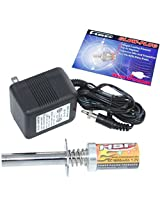 Redcat Racing Glow Plug Igniter with Charger, HSP Medium Glow Plug for Nitro RC Cars, Trucks, and Bu