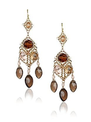 Diane Yang Chandelier Earrings, Smoky