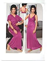 Indiatrendzs Women's Sexy Hot Nighty Dress 2pc Set -Freesize