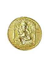 Ganesh Yantra Coin 10gms In Copper Gold Plated Blessed And Energised